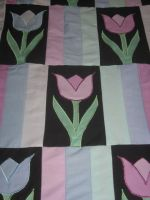 Amish Tulip Quilt by WillowForrestall