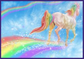 Rainbow Run - Print by MzJekyl