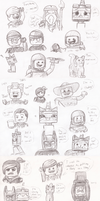 So Many Lego Sketches by Paleodraw