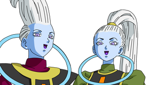 Dragonball Whis and Vados Lineart Farbig by WallpaperZero