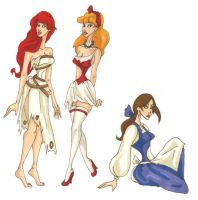 Three disney Princess by LaTaupinette