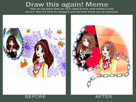 Meme Before and After - Itazura Mikan by MasterB0nesX