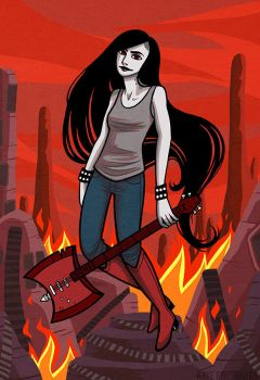 Marceline the Vampire Queen by katebrezzy