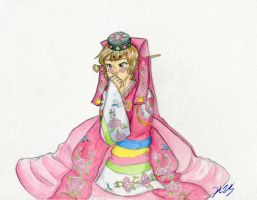 fem!Korea wedding dress by gohe1090