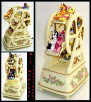 MLP Musical Ferris Wheel Custom with 8 Ponies by MadPonyScientist