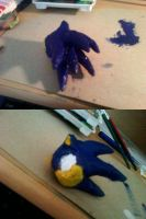 Sonic sculpt WIP 1 by nothing111111