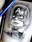 CIVIL WAR: Captain America Portrait by BreathlessDragon