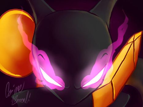Pokken Shadow Mewtwo by Bernouli
