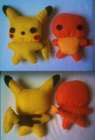 Pokemon Plushies by CheesyHipster