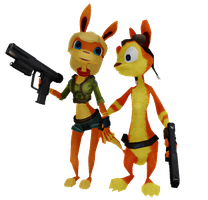 Tess and Daxter [WIP] by CityOfSpades