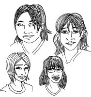 Four Gals Sketch tg by SebastiansSire