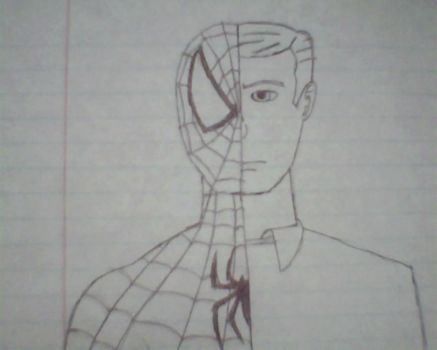 Spiderman and Peter Parker by JoeMasterIII