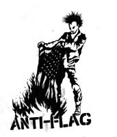 ANTI-FLAG -punk burning flag- by CrashyBandicoot