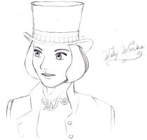 Willy Wonka Sketch by GoddessRhea