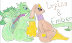 Ember and Lupine by jrscoolio