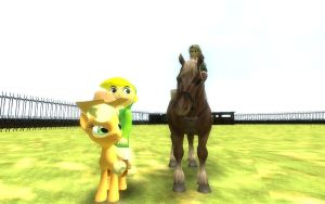 Horseback Challenge- Toon  Vs. Twilight Princess by OkamiTakahashi