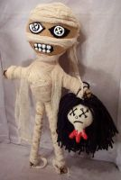 Evil Egyptian Mummy Rag Doll by jazzy1453