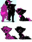 Finished breedable. Kittens DTA by warriorcatniss