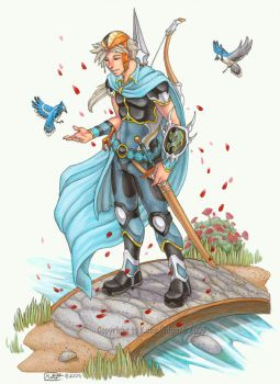 Firion and the Blue Jays by KatieHofgard