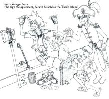 The Pirate Kids get Sora done by daisuke090