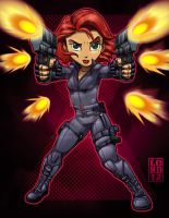 Speed Vector - Lil Black Widow by lordmesa