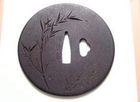 Bamboo Tsuba finished by chosetec