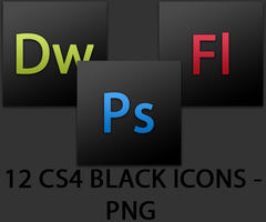 CS4 Black Icons Collection by yorukiyo