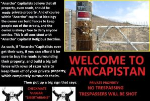 WELCOME TO AYNCAPISTAN by Valendale