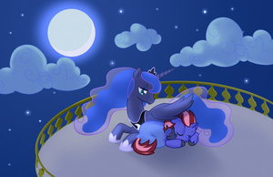 Luna and Somnus by Keithsterling