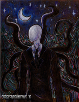 At the Forest_Slenderman by crescentshadows19