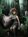 Princess Mononoke by Chemical-Exorcist