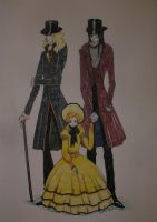 Lestat, Louis and Claudia by InsomniacLizard