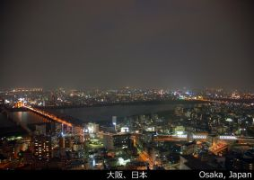Osaka, Japan - View North by 3ntropy