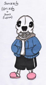 Sans+Grizzly fusion by JessicaMario