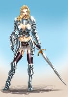 Female Knight by Riverlimzhichuan