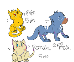 Some Adoptables by iamafishy