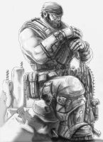 Sergeant Marcus Michael Fenix - Gears of War by Crow-Dreamer