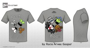 Peek a Boo TShirt Cute Monster by RoArGo