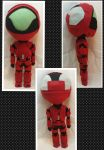 Con Plush 8 - Halo Red Spartan Plushie by mihijime