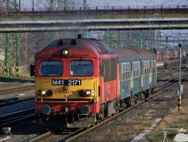 M41 2171 with passenger train. by morpheus880223