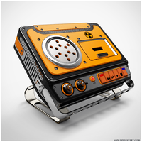 portable cassette recorder by 600v