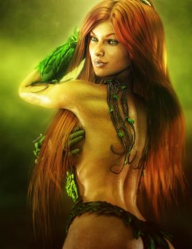 Poison Ivy Fan Art by shibashake