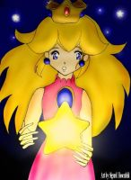 Princess Peach Holding a star by SigurdHosenfeld
