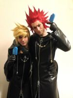 Axel and Roxas Cosplay Art - Kingdom Hearts by LeonChiroCosplayArt