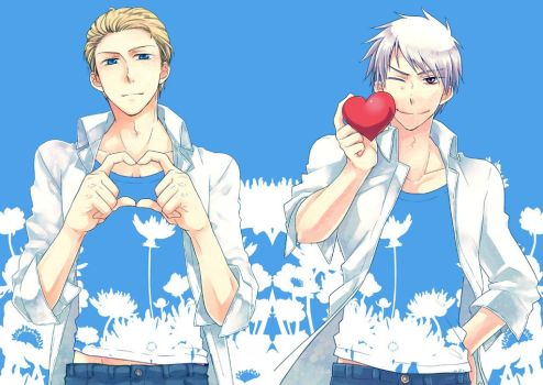 Germany and Prussia-Ich Liebe Dich by Supreeeeeeeemee