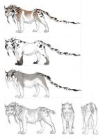 Bobcat character designs by seraphxviii