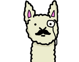 Llama with a Moustache by NinjaCow978