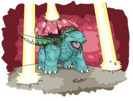 Pokedex Entry: #003 Venusaur by absoluteweapon