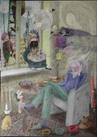 The Poet's Room  color by Altergatto