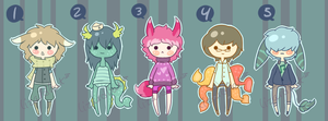 Sea and Not so Sea Adopts (Closed) by LizardBat